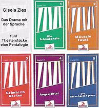 """Covers der Pentalogie """"Das Drama mit der Sprache"""", von Gisela Zies, Berlin"""