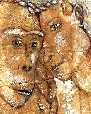 Illustration zu dem Theaterstück Anna Pitheca von Gisela Ziest, Berlin