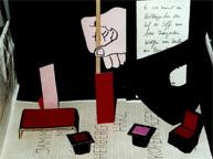 Illustration zu dem Theaterstück Mit Kerzenruß auf Zuckerpapier von Gisela Zies, Berlin