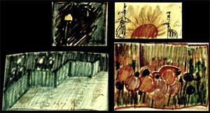 Illustration zu dem Theaterstück Sellerie Sellerie von Gisela Zies, Berlin
