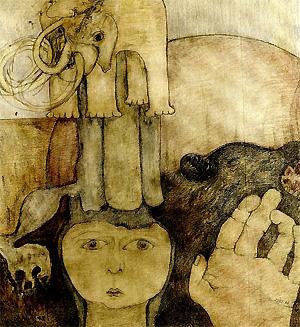 Illustration zu dem Theaterstück Solveig wartet nicht mehr von Gisela Zies, Berlin