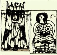 Illustration zum Hörspiel Héloise und Hildegard von Gisela Zies, Berlin