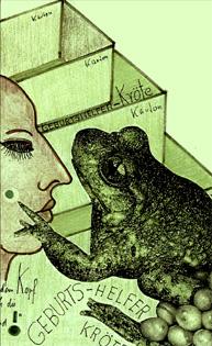 Illustration zum Text Der Kuss des Krötenamnnes von Gisela Zies, Berlin