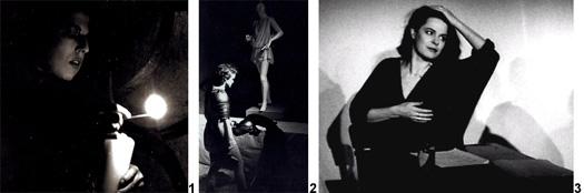 Szenenfotos zu den Theaterstücken Die Schlange aber und Die weiße Rabe von Gisela Zies, Berlin