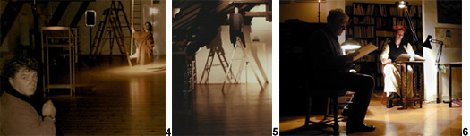 Szenenfotos zu den Theaterstücken Vater, das muss anders sein und Mit Kerzenruß auf Zuckerpapier von Gisela Zies, Berlin